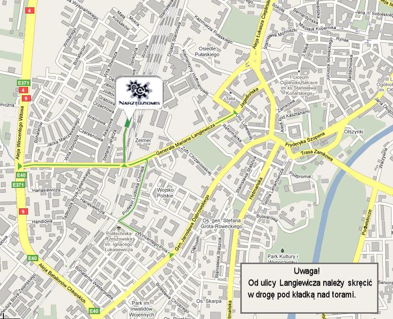 Mapa dojazdu mała